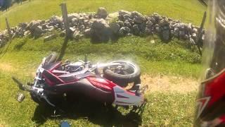 Crash during land's ride with aprilia sx 50 (GOPRO)