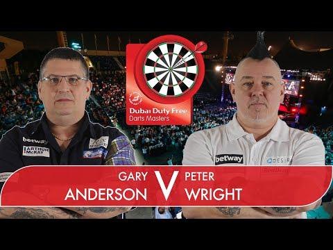 2017 Dubai Duty Free Darts Masters Semi Final Anderson vs Wright