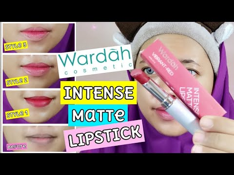 wardah-review---intense-matte-lipstick-vibrant-red-for-black-lip-|-by-vapinka-makeup