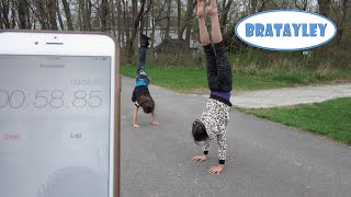 Handstands and Cartwheels Challenge! (WK 224.2) | Bratayley