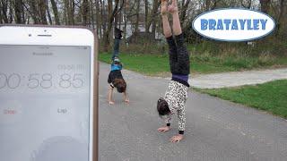 Handstands and Cartwheels Challenge! (WK 224.2) | Bratayley