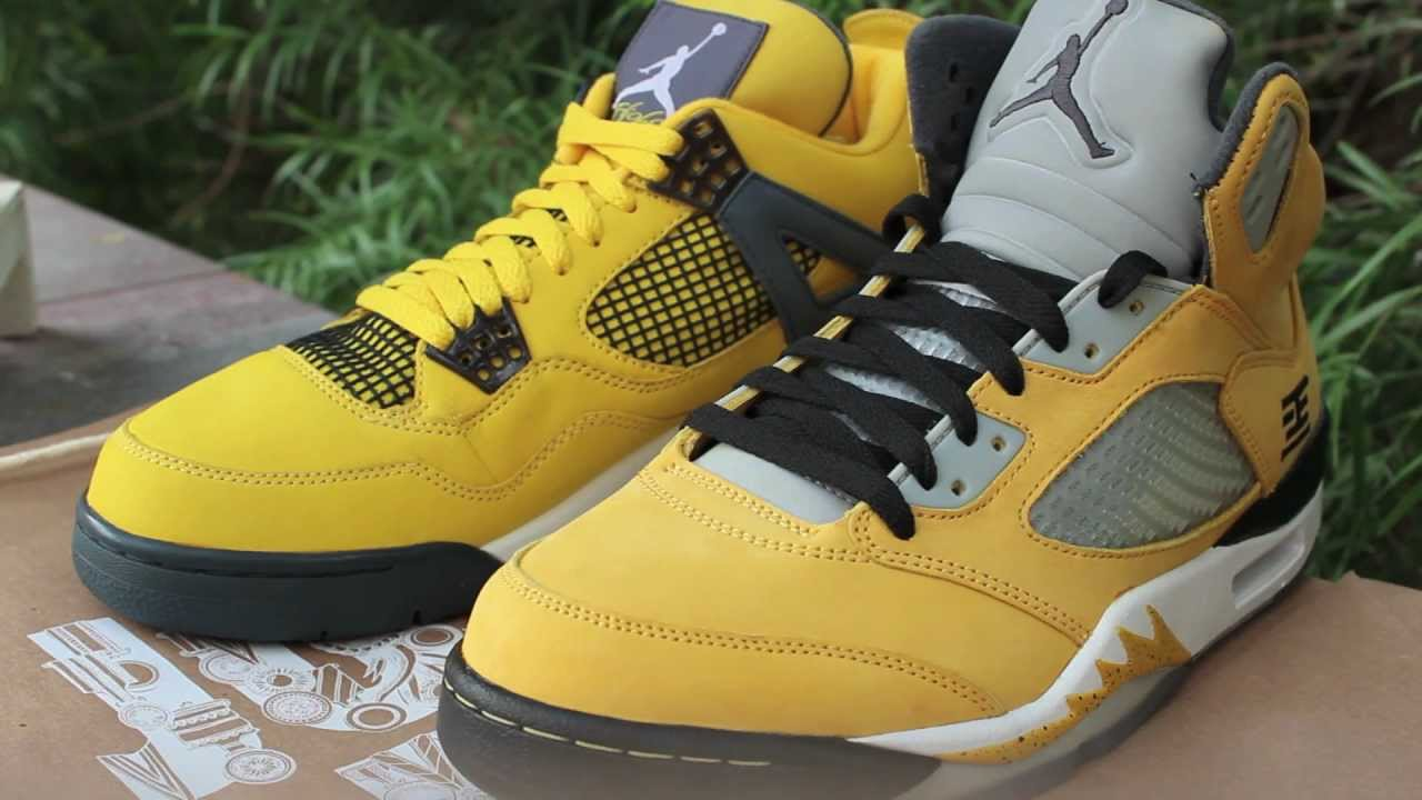 nike air jordan 5 tokyo jordan 4 lightning comparison hd youtube
