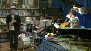 May 9, 2015, Takasaki K Note Guest : Takuya Aiba K Note Jazz Project : Hideaki Kohga(p), Koichi Yamanaka (b), Hiroyuki Kanazawa (d0.