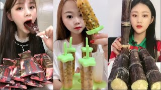 Eat jelly, frozen chocolates,frozen fruit DELICIOUS COLORFUL JELLO EATING SOUNDS#41