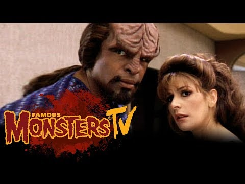 with Marina Sirtis & Michael Dorn from Star Trek  Famous Monsters TV
