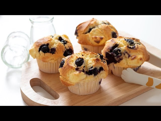 ブルーベリー&チーズマフィンの作り方 Blueberry & Cream cheese Muffin HidaMari Cooking