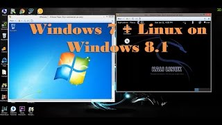 How to install multiple operating system on windows 8.1 (Win 7 + Linux)