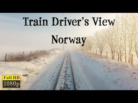 TRAIN DRIVER'S VIEW: Ål - Oslo On A Beautiful Sunny Winter Day