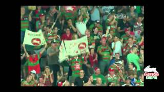 Rabbitohs Chris Sandow's runaway try against Roosters - NRL Round 1 2011