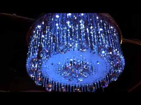 LED crystal chandelier with mp3 and speakers - YouTube
