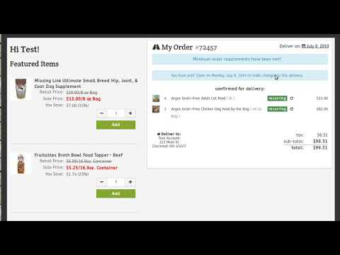 Recurring Items Page Demo for Customers
