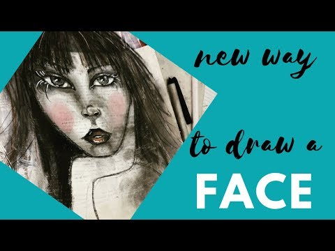 Using Books For Inspiration Learning To Draw Face In New Way