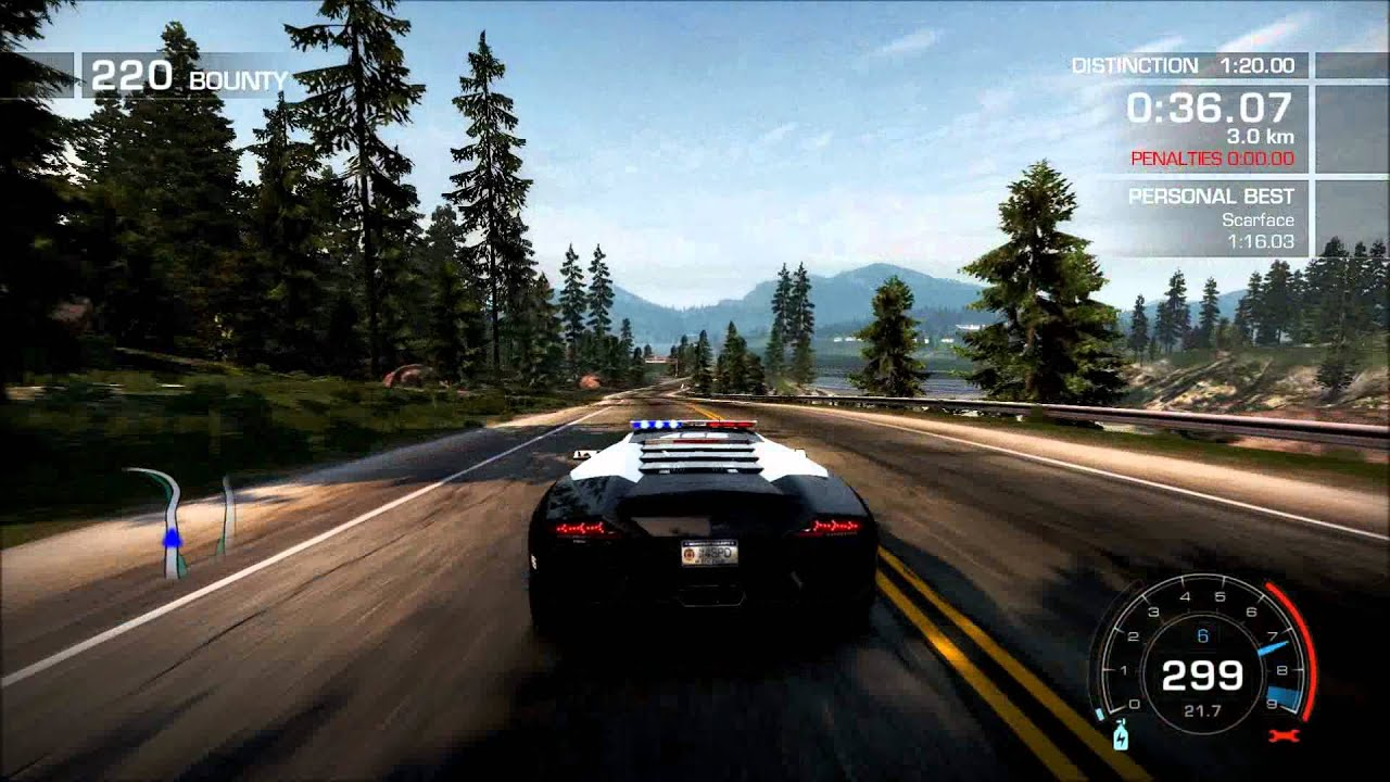 nfs hot pursuit lamborghini reventon police car 1080p youtube. Black Bedroom Furniture Sets. Home Design Ideas