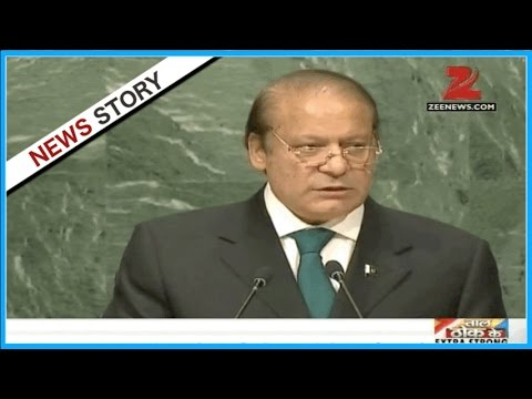 Pak PM Nawaz Sharif speaking from UN General Assembly