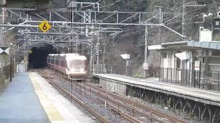 長野行き383系特急しなの 古虎渓駅を高速通過!!