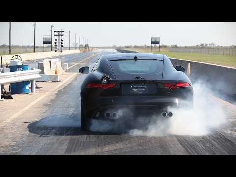 Watch Hennessey's 623-hp F-Type R Lay Down a Scorching 1/4-Mile