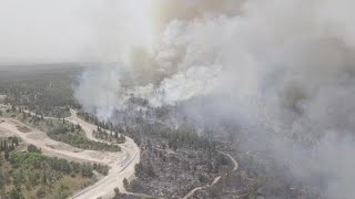 תיעוד רחפן מהשריפה ביער בן שמן