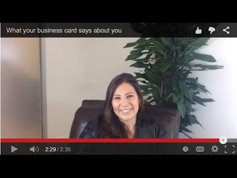 What Your Business Card Says About You Youtube