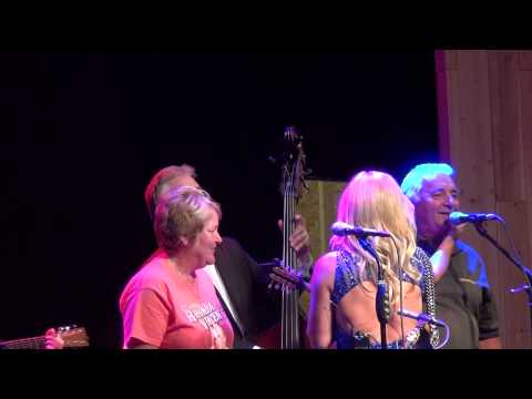 RHONDA VINCENT & THE RAGE - I NEVER GO AROUND MIRRORS with EDDY AND VICKI 2015 live