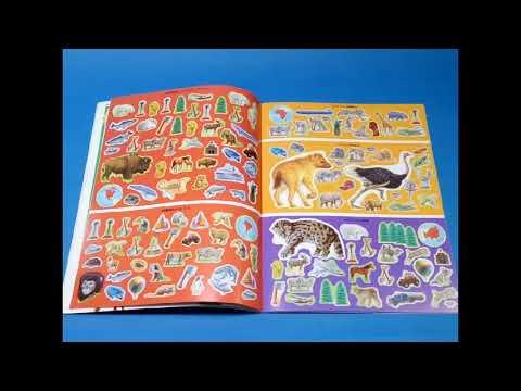 """libro-de-pegatinas-""""atlas-de-animales-del-mundo"""""""