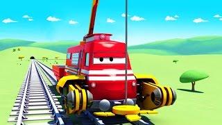 Troy el Tren 🚆 y el camión creanieve 🚚 en Auto City | Dibujos animados para niños