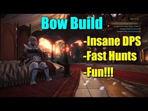 Monster Hunter World - Bow Build Insane DPS, Survivability, and Fun!