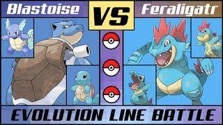 BLASTOISE vs. FERALIGATR! Evolution Line Battle (Pokémon Sun/Moon) MP3