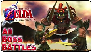 The Legend of Zelda Ocarina of Time 3D All Bosses