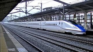 JR東日本:E7系 あさま618号 熊谷駅入線~発車 2017.10.13