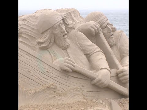 McCabe - Hampton Beach sand castle sculpting competition underway