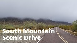 South Mountain Scenic drive - Phoenix, AZ - Rain and Fog edition