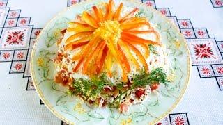 Вкусные салаты с курицей Салат Айстра Рецепти салатів з куркою Салат с куриной грудкой и помидором