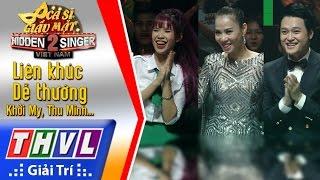 THVL | Ca sĩ giấu mặt 2016 - Tập 17[1]: Lk Dể thương - Khởi My, Thu Minh, Phan Đinh Tùng, Quang Vinh