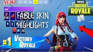 Fortnite fable skin gameplay highlights!! I killed a purple skull trooper !!