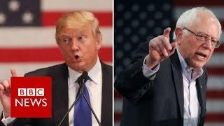 US 2016 : Billionaire Trump v Socialist Sanders - BBC News