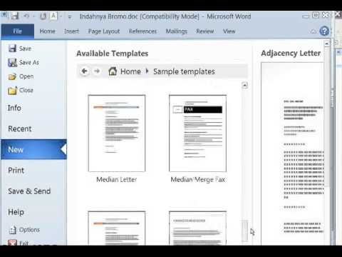 Cara membuat curriculum vitae dengan template ms word youtube yelopaper Images