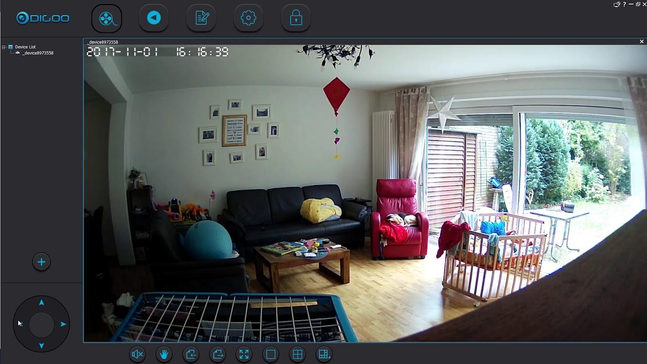 Digoo Windows-App -with Download-Link- sample-footage - with Digoo DG-M1Z
