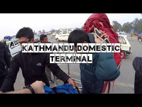 Kathmandu Domestic Terminal Departure | Lukla Arrival Terminal | GoPro Hero5