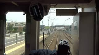 矢田前駅を出発する青い森鉄道上り701系の前面展望
