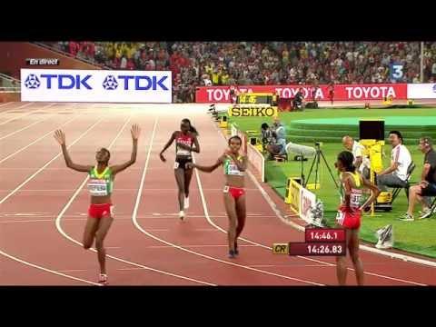 Ethiopia's Almaz Ayana wins 5000m Women's Final CR | IAAF World Athletics Championships BEIJING 2015