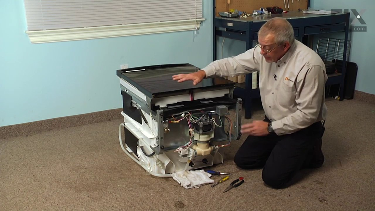 ge dishwasher repair how to replace the check valve flapper youtube. Black Bedroom Furniture Sets. Home Design Ideas