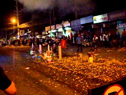New Years 2012 fireworks, Balibago, Angeles City Philippines.