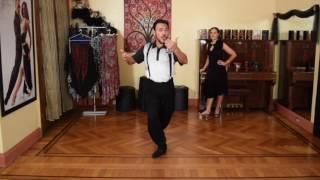 TRASPIE COMBINATION WITH MILONGUERO TURN  LESSON Georgina y Oscar Mandagaran