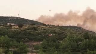 Φωτιά κοντά στην περιοχή Πούντες Σάμου 24/8/2019