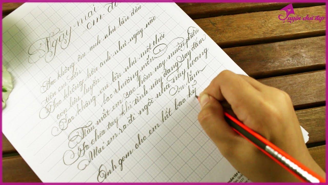 Luyện Chữ Bút Chì Siêu Đẹp Với Bài Hát – Ngày Mai Em Đi – Lê Hiếu | Luyện Chữ Đẹp Cần Giuộc