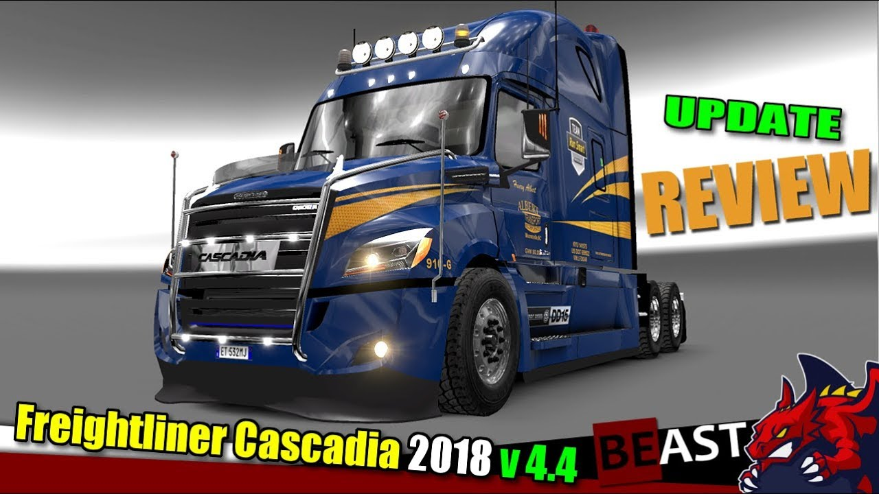 ets2 truck mod freightliner cascadia 2018 v4 4 review youtube. Black Bedroom Furniture Sets. Home Design Ideas