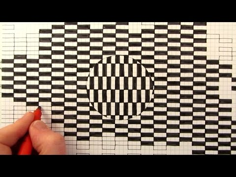 how to draw a moving optical illusion youtube
