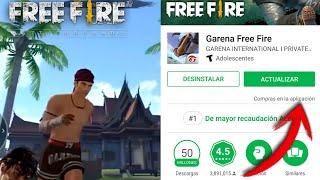 ¡ya esta aquí nueva actualización de free fire saldra hoy