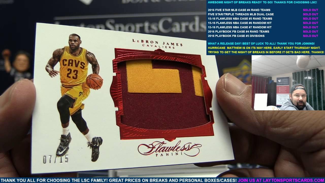 527a7dbb178 2015-16 Panini Flawless Basketball 2 Box Case Break for Ruben - YouTube
