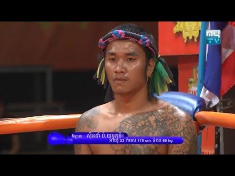Phon Phanna vs Singdam(thai), Khmer Boxing MY TV 16 March 2018, Kun Khmer vs Muay Thai